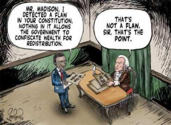 Obama asks Jefferson about Constitution flaw
