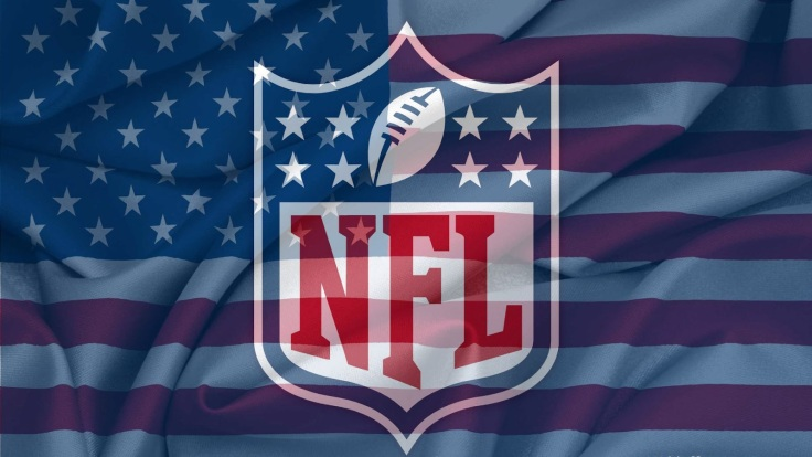 NFL and US flag